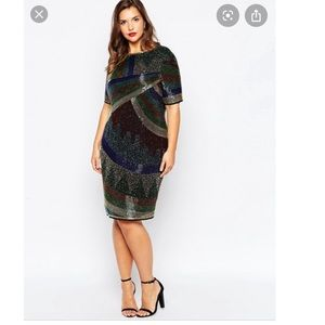 Disco Embellished Shift Dress-WORN ONCE